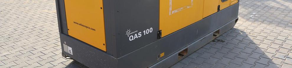Aggregaat.info vermogen tot 100 KVA Atlas Copco Qas-100