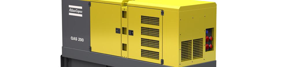 Aggregaat.info zwaar vermogen tot  200 KVA merk Atlas Copco Qas-200