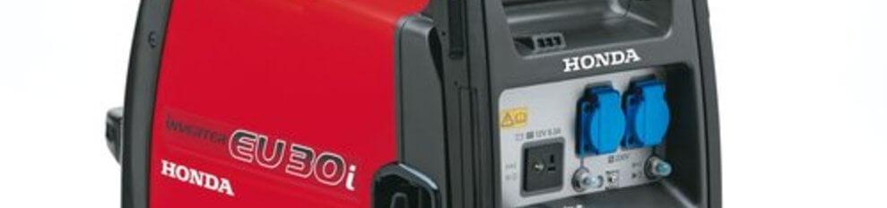 Honda Aggregaat 3 KVA Benzine EU30iS Inverter speciaal voor electronica.